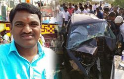 telangana journalist prasanna died in road accident