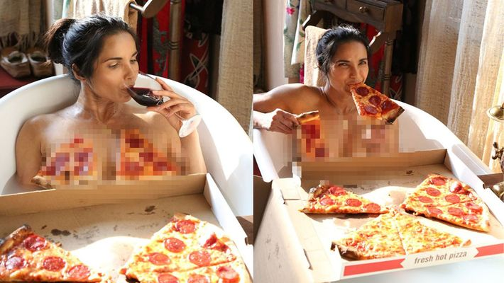 Sizzling model Padma Lakshmi teaches how to have a pizza in style
