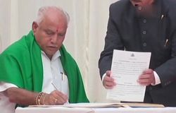 Karnataka Govt Formation : BSY Sworn as CM