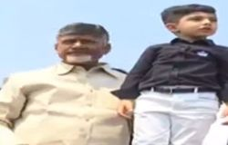cm chandrababu naidu and dewansh visits polavaram gallery