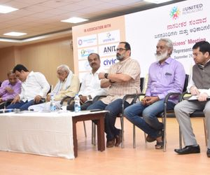 Residents discuss protecting, reclaiming Bengaluru DyCM MLA give it a miss Rajeev Chandrasekhar United Bengaluru HS Doreswamy