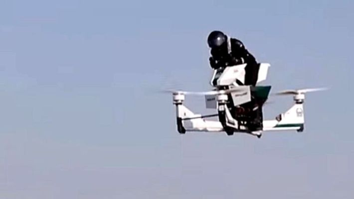 Police on flying bikes to patrol Dubai by 2020