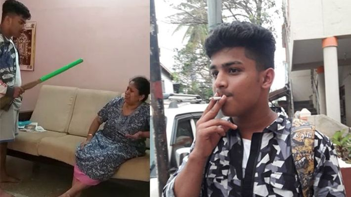 Image result for bengaluru boy beats his mother