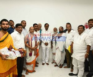 Political leaders and celebrities greets KCR