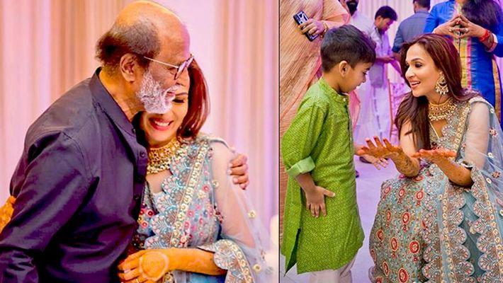 Rajinikanth shows his dance moves at daughter Soundarya wedding