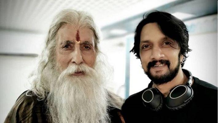 Kichcha Sudeep shares a priceless moment from Sye Raa shooting set