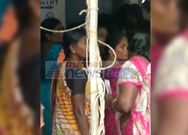 Voters are in queue at chilakalurpet
