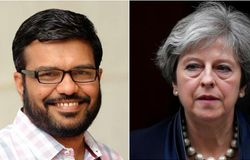 mb rajesh theresa may