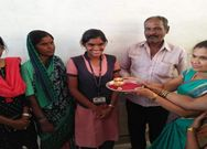 first rank holder Kusuma from Bellary helps her parents in puncture shop