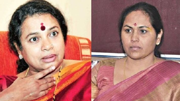 Congress Leaders Umashree Hits Back At Shobha Karandlaje For Her Bangles Statement