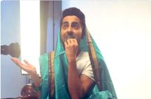 Speaking of Vicky Donor, Vicky (Ayushmann Khurrana) took to Twitter to post a picture of him in a saree. While seated on a scooter in the picture, the actor looks like he is surprised at the sight of something. The highlight of it all are the green bangles that he has worn to match with the saree.