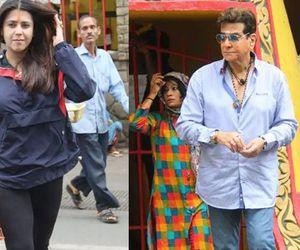 Ekta Kapoor visit Shiv mandir with father jitendra on Sawan Somvaar