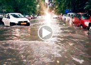 Streets of Kolkata get water logged after heavy rain fall in Kolkata