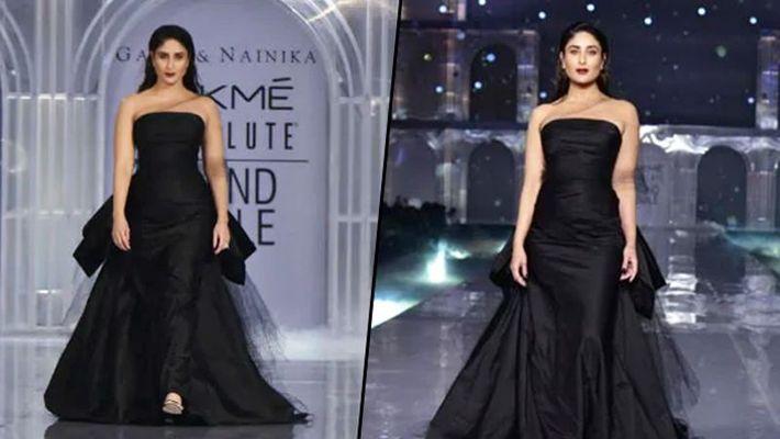 Lakme Fashion Week: Kareena Kapoor walks the ramp in off-shoulder black gown