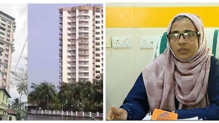 maradu municipal chairperson says that they cannot  break flat alone