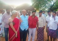 Villagers restricted to MP Narayana Swamy enter village in Pavagada due to he is Dalit