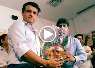Sourav Got wonderful welcome at Eden gardens by CAB
