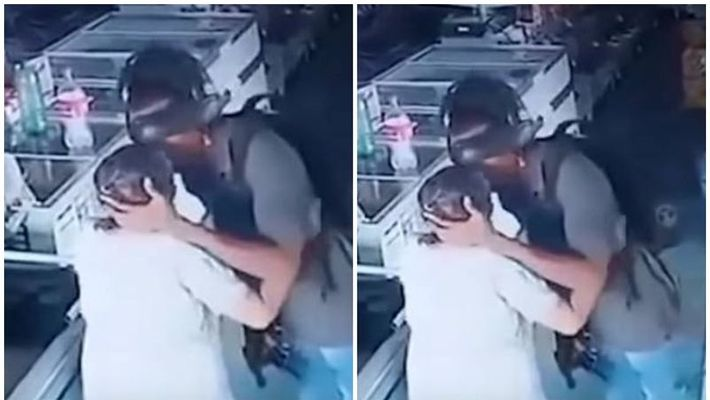 burglar denied money from old woman and kissed her
