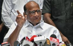 Sharad pawar addressed press.