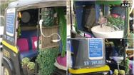 auto rickshaw driver in Mumbai equipped his vehicle with basic facilities