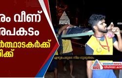 tree fell down in sabarimala devotees got injured