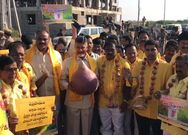TDP leaders Protest against Hike Onion Prices