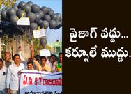 Kurnool TDP Leaders Protest With Black Balloons, black badges, black Pigeon against 3 Capitals Decision