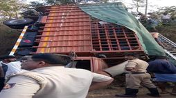 marriage lorry overturns