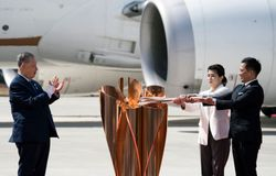 Olympic torch arrives in Japan
