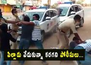 Wanaparthy police thrashed a man in front of his son for avoiding lockdown rules