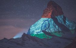 <p>Matterhorn, Switzerland, Coronavirus, India Flag</p>