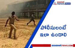 <p>Police man stops fire and saved Poultry Farm at Peddapalli<br />  </p>