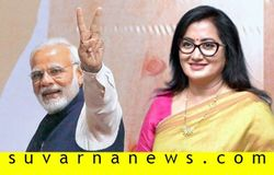 <p>Narendra Modi and Sumalatha Ambareesh</p>