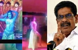 <p>mullappally in night party</p>