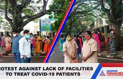 <p>Coronavirus: NIMHANS workers stage protest over lack of facilities</p>