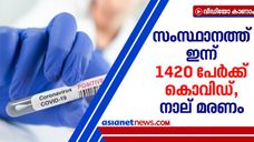 1420 new covid cases reported in kerala