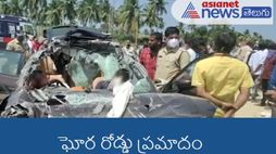 four died : road accident in chittoor district