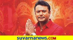 Darshan at Hyderabad for Robert Telugu pre-release event vcs