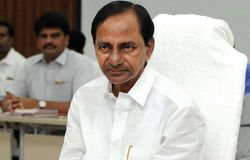 KCR leaves for Vijayawada