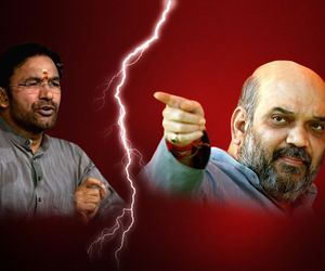 Amit shah pulls up kishen Reddy for not coming on to the stage