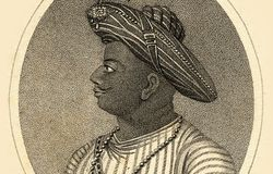 TIPU OR TIPPOO SAHIB, SULTAN OF MYSORE 1782-99.ENGRAVING BY W. RIDLEY, PUBLISHED IN 'EUROPEAN MAGAZINE', JULY 1, 1800.